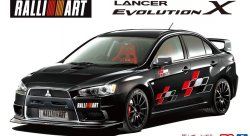 Сборная модель Mitsubishi Lancer Evolution X RalliArt '07 Aoshima